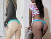 Sayuri and Zelda's Green Lace Used Thongs