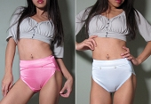 Satin High Waist Used Panties