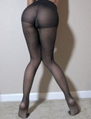 Navy Control-Top Used Pantyhose
